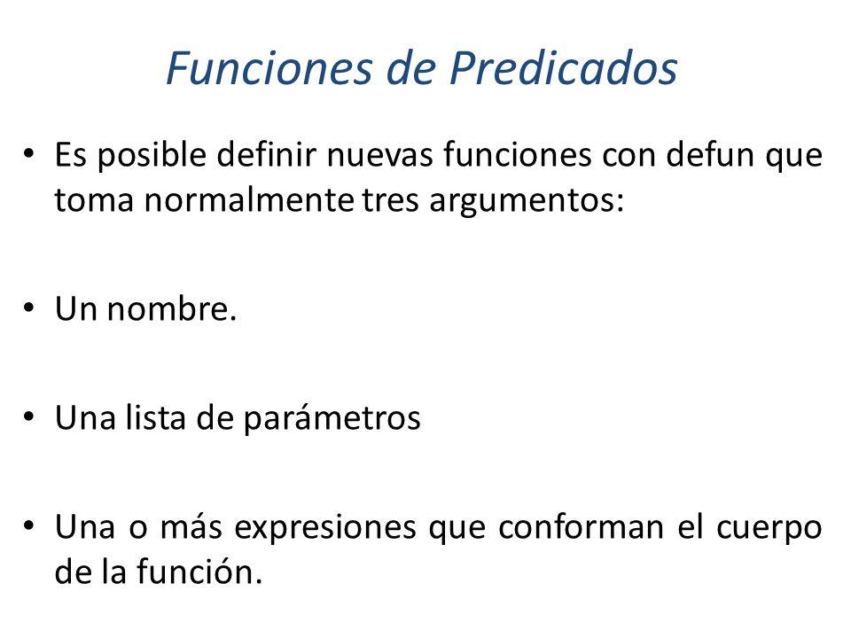 Funciones de Predicados
