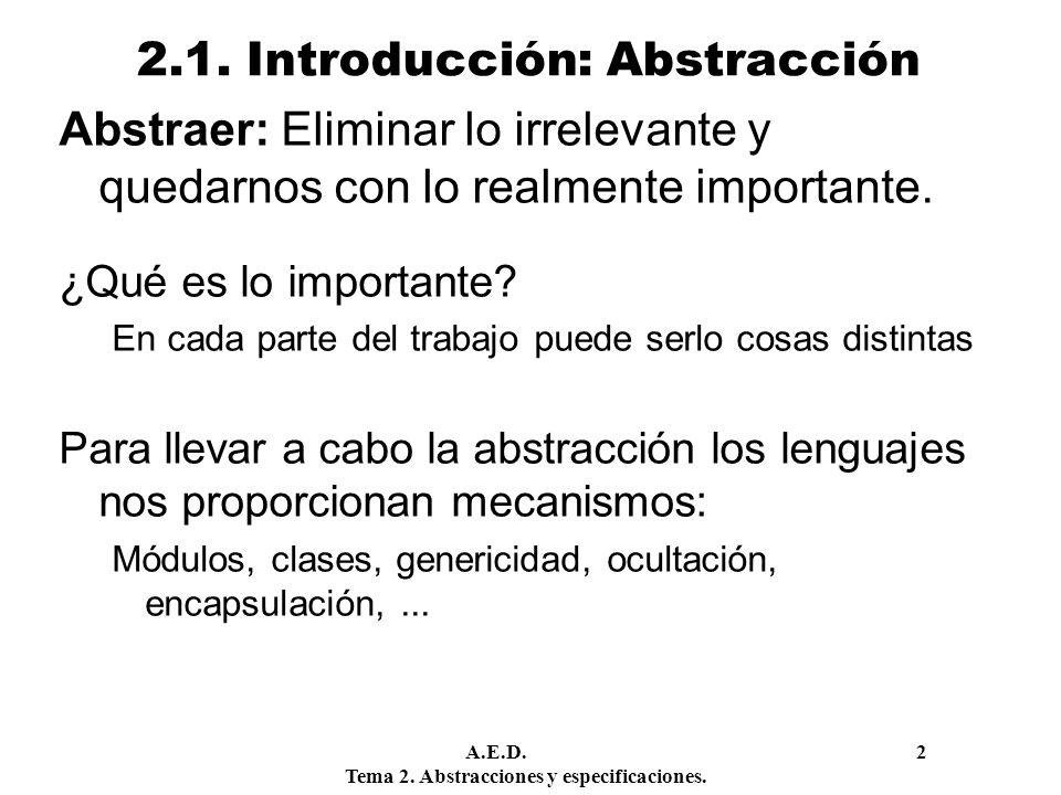 2.1. Introducción: Abstracción