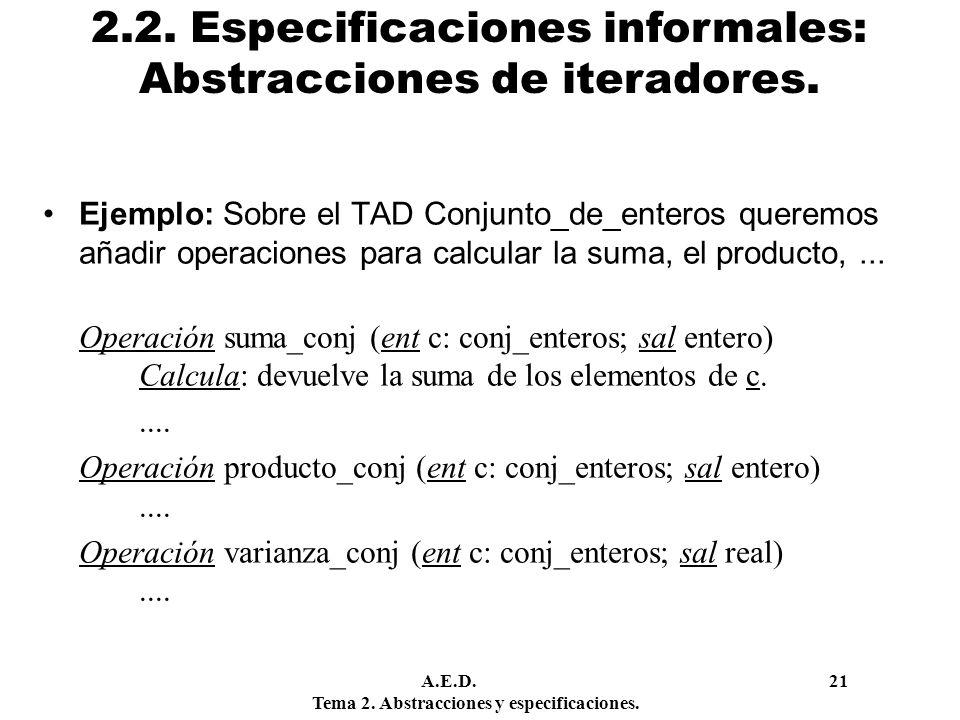 2.2. Especificaciones informales: Abstracciones de iteradores.
