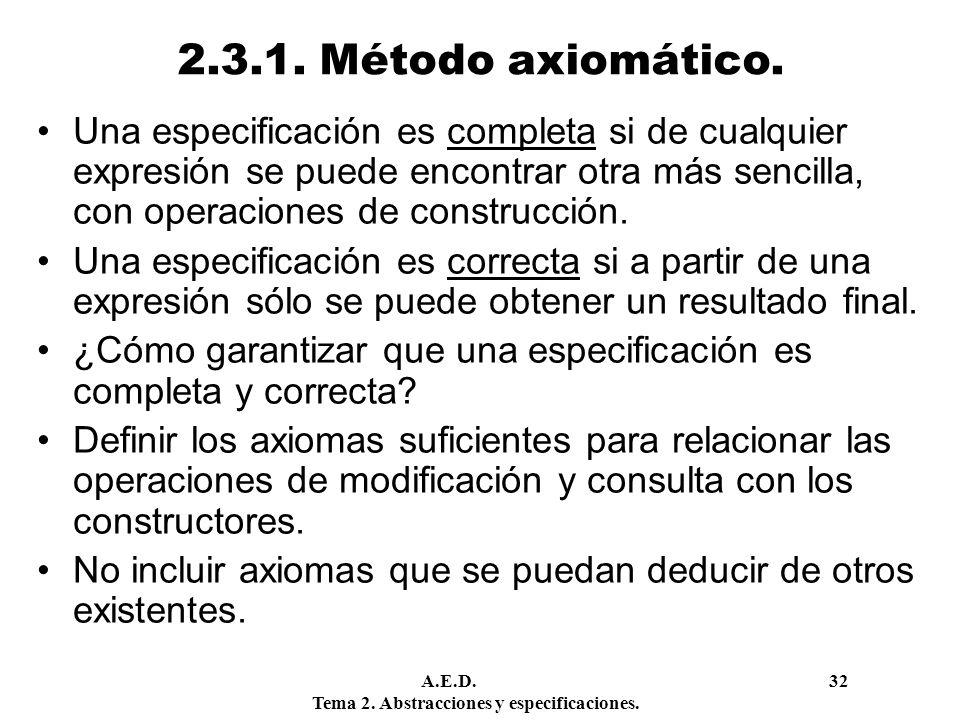 2.3.1. Método axiomático.