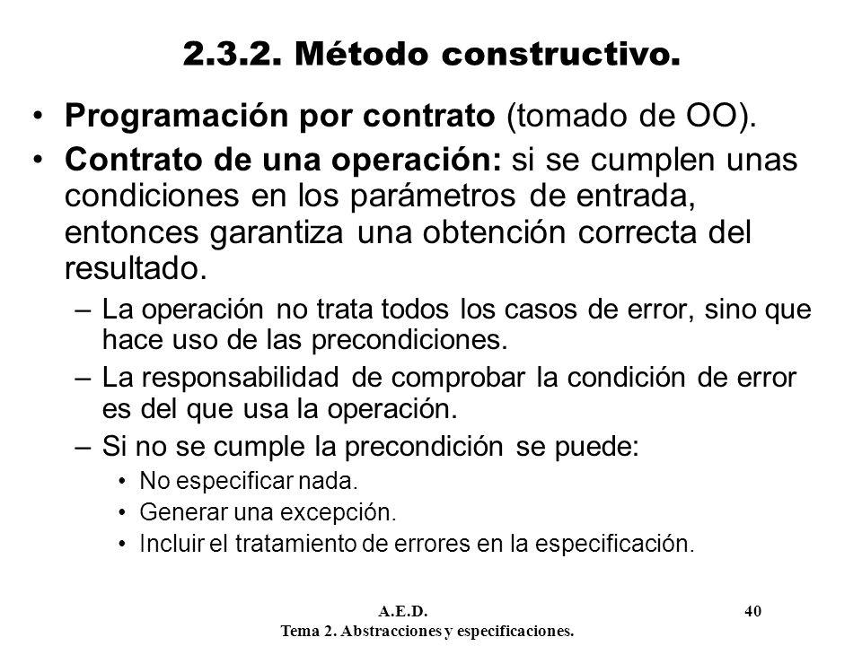 Programación por contrato (tomado de OO).