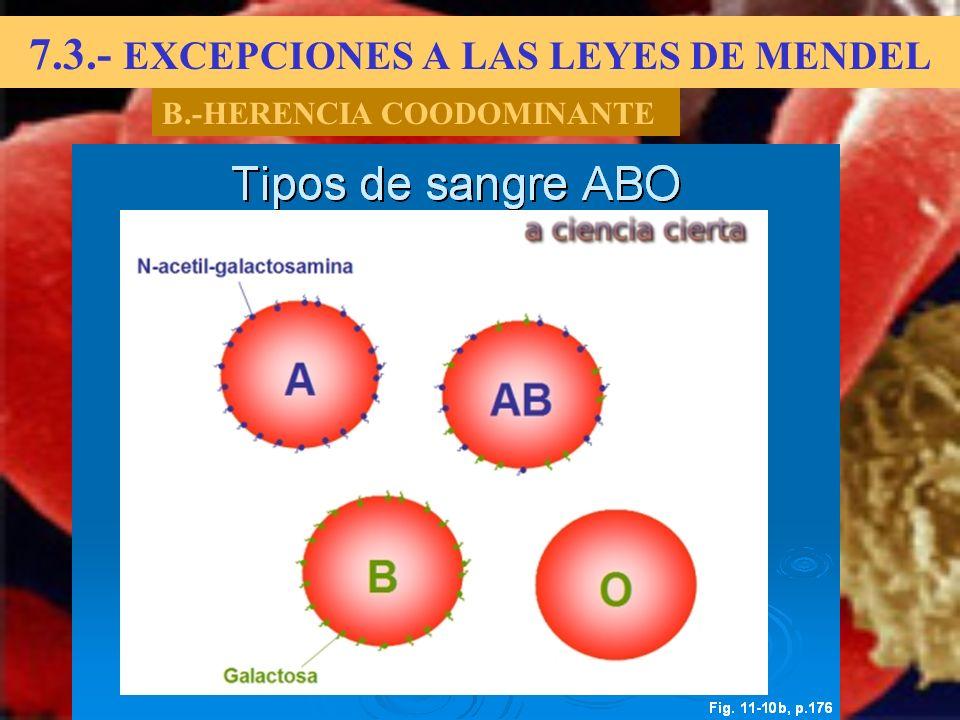 7.3.- EXCEPCIONES A LAS LEYES DE MENDEL