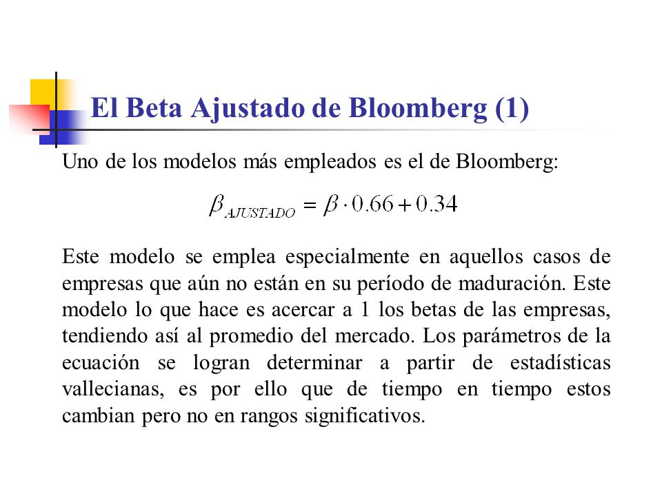 El Beta Ajustado de Bloomberg (1)