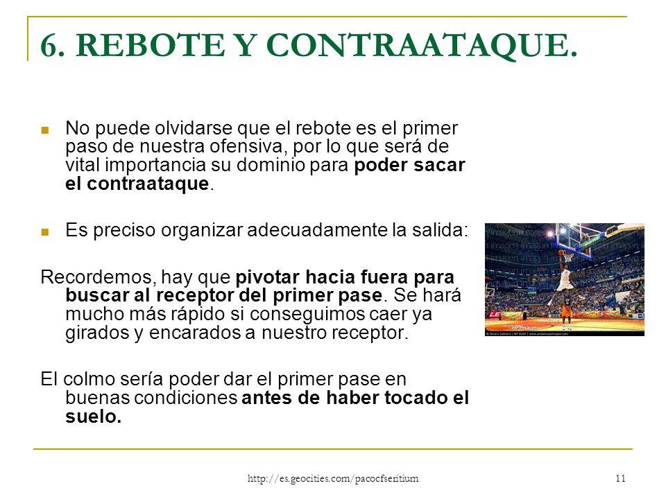 6. REBOTE Y CONTRAATAQUE.