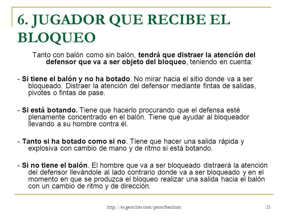 6. JUGADOR QUE RECIBE EL BLOQUEO
