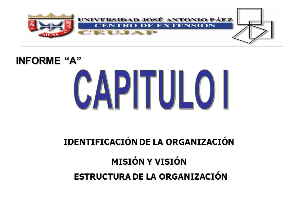 IDENTIFICACIÓN DE LA ORGANIZACIÓN ESTRUCTURA DE LA ORGANIZACIÓN