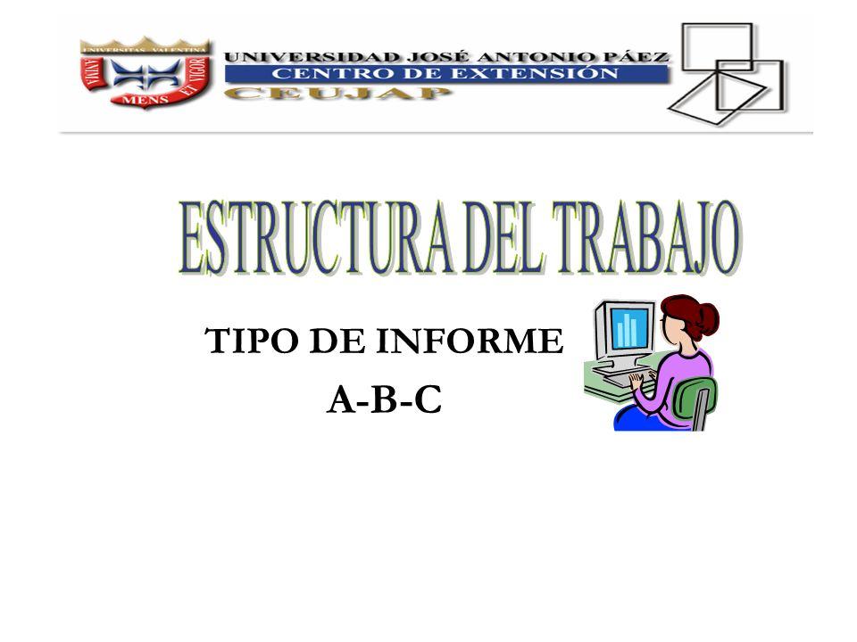 ESTRUCTURA DEL TRABAJO