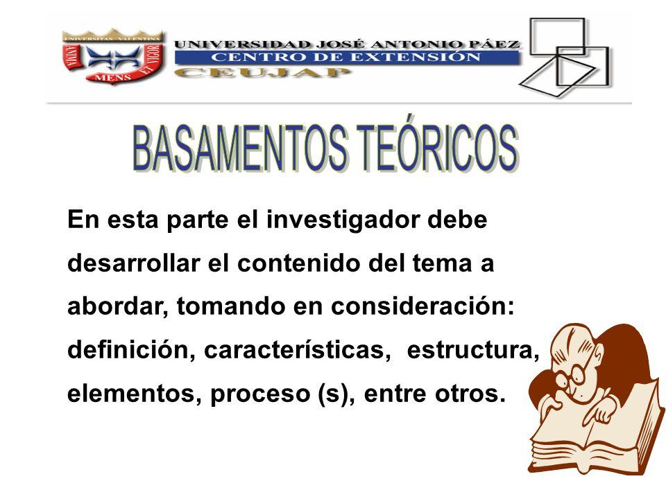 BASAMENTOS TEÓRICOS