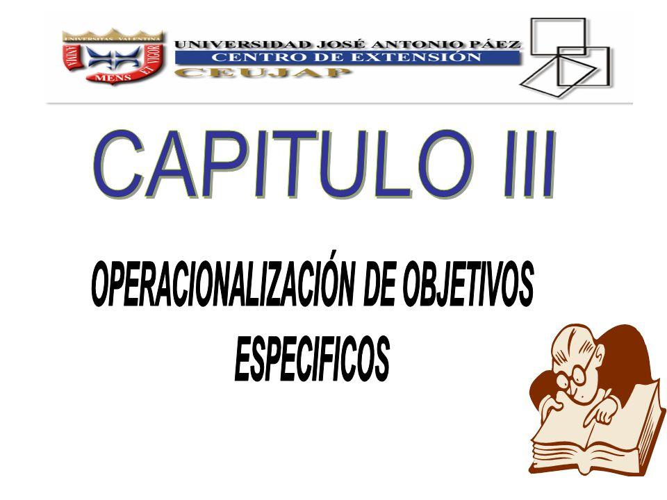 OPERACIONALIZACIÓN DE OBJETIVOS