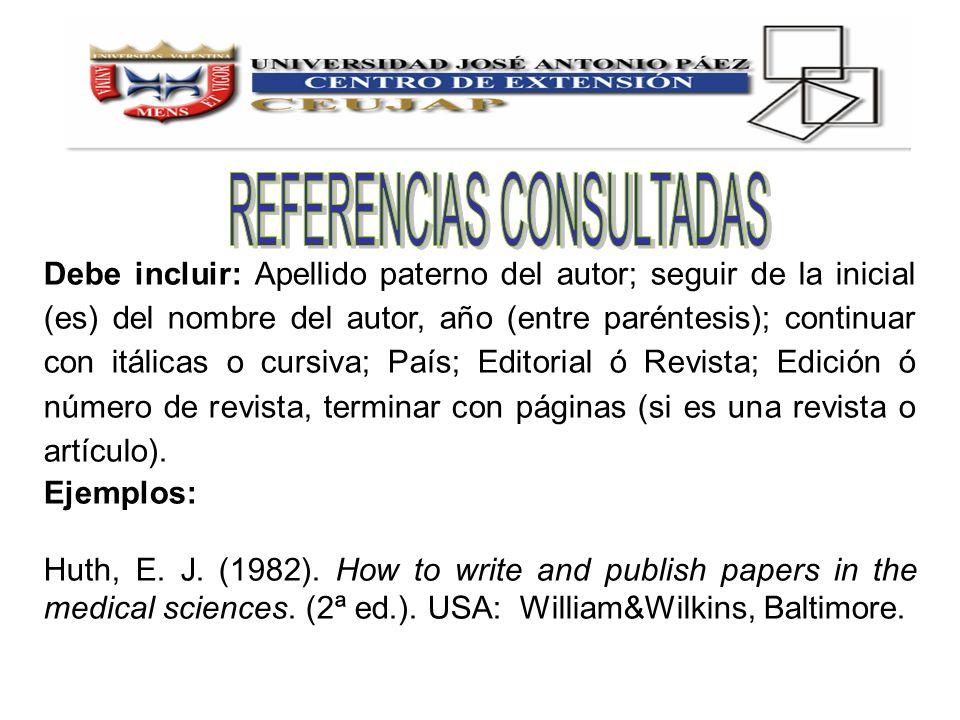 REFERENCIAS CONSULTADAS