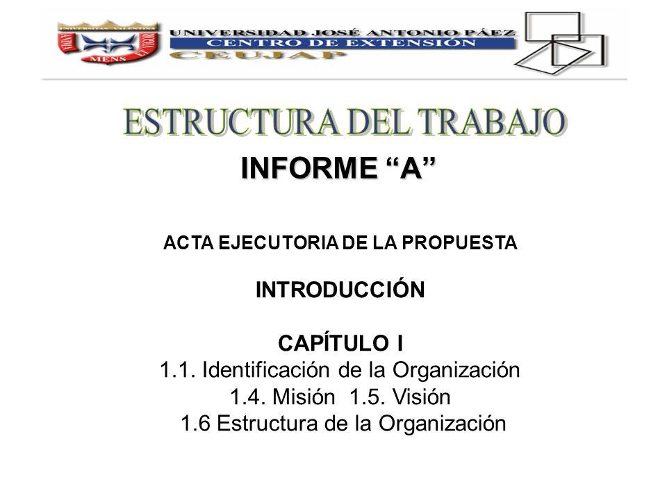 ACTA EJECUTORIA DE LA PROPUESTA