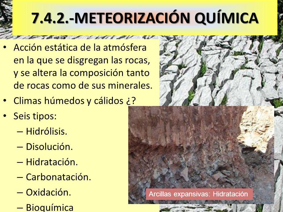7.4.2.-METEORIZACIÓN QUÍMICA