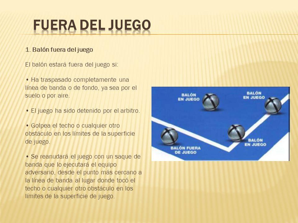 Reglamento resumido f tbol sala ppt video online descargar for Balon fuera de juego
