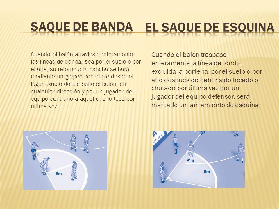 SAQUE DE BANDA EL SAQUE DE ESQUINA