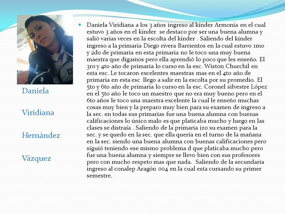 Daniela Viridiana Hernández Vázquez