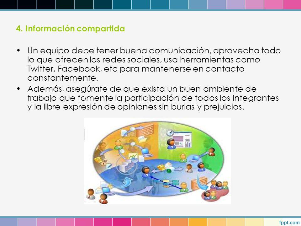 4. Información compartida