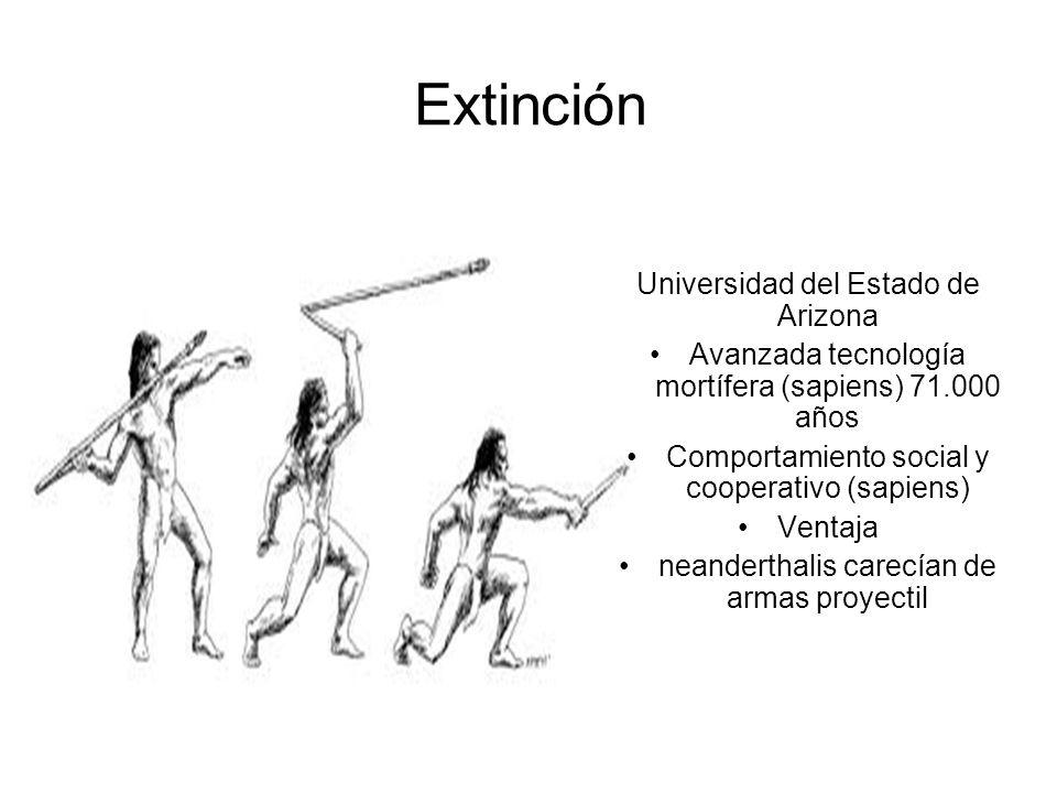 Extinción Universidad del Estado de Arizona