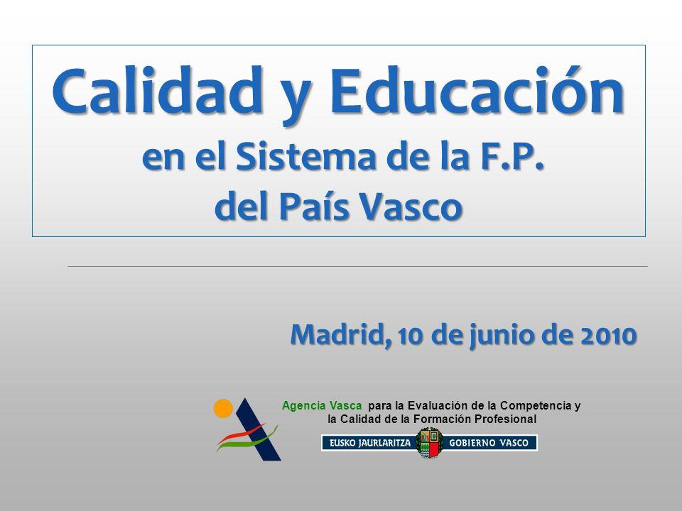 Calidad y Educación en el Sistema de la F.P.