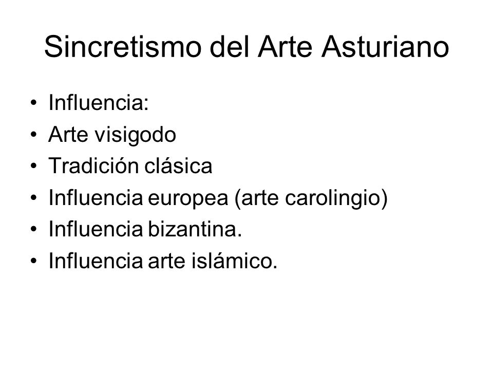 Sincretismo del Arte Asturiano