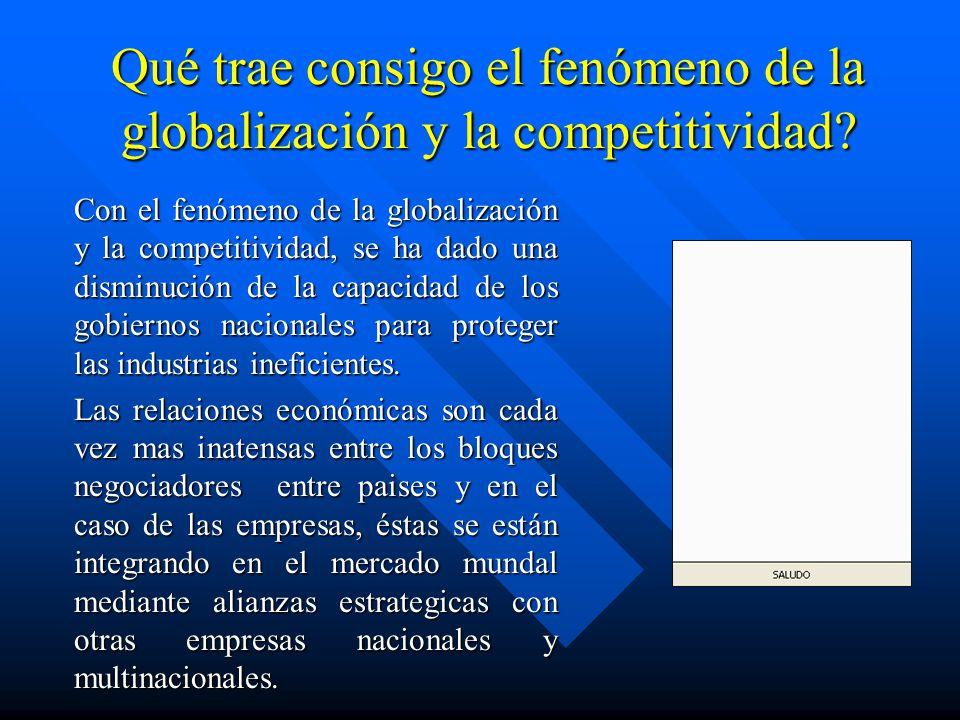 Qué trae consigo el fenómeno de la globalización y la competitividad
