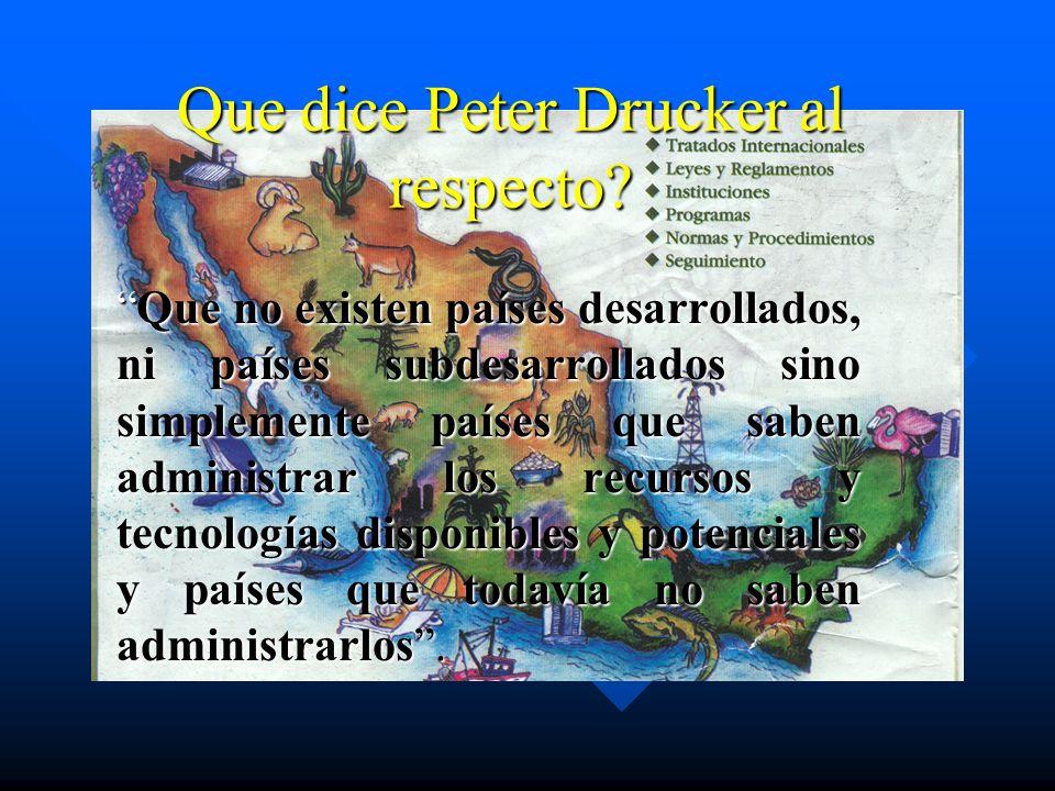 Que dice Peter Drucker al respecto