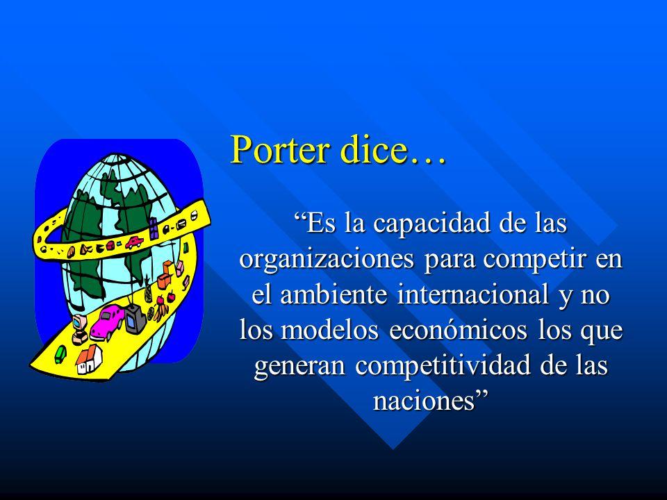 Porter dice…