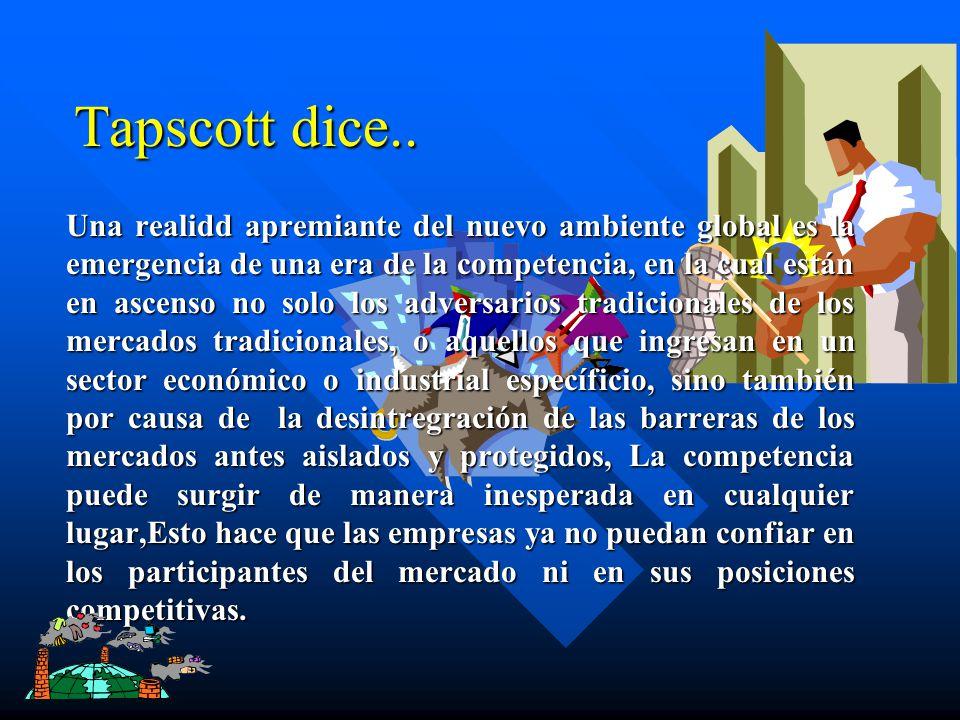 Tapscott dice..