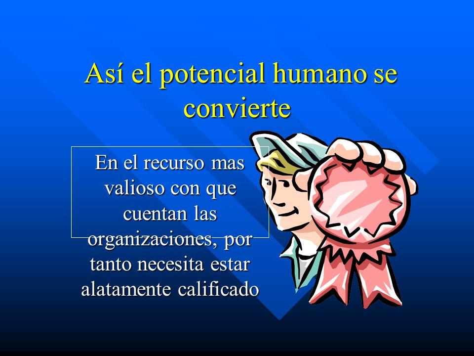 Así el potencial humano se convierte