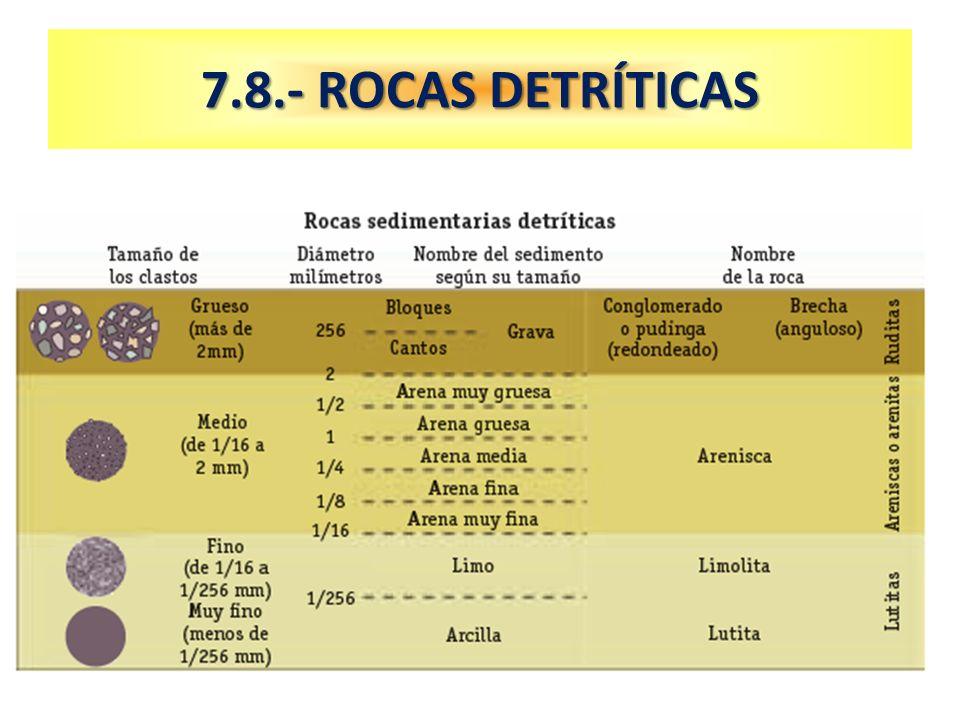 7.8.- ROCAS DETRÍTICAS