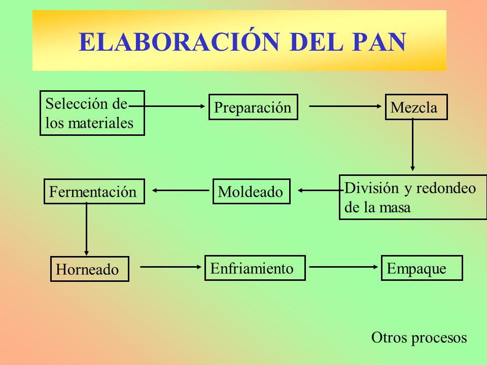 ELABORACIÓN DEL PAN Selección de los materiales Preparación Mezcla