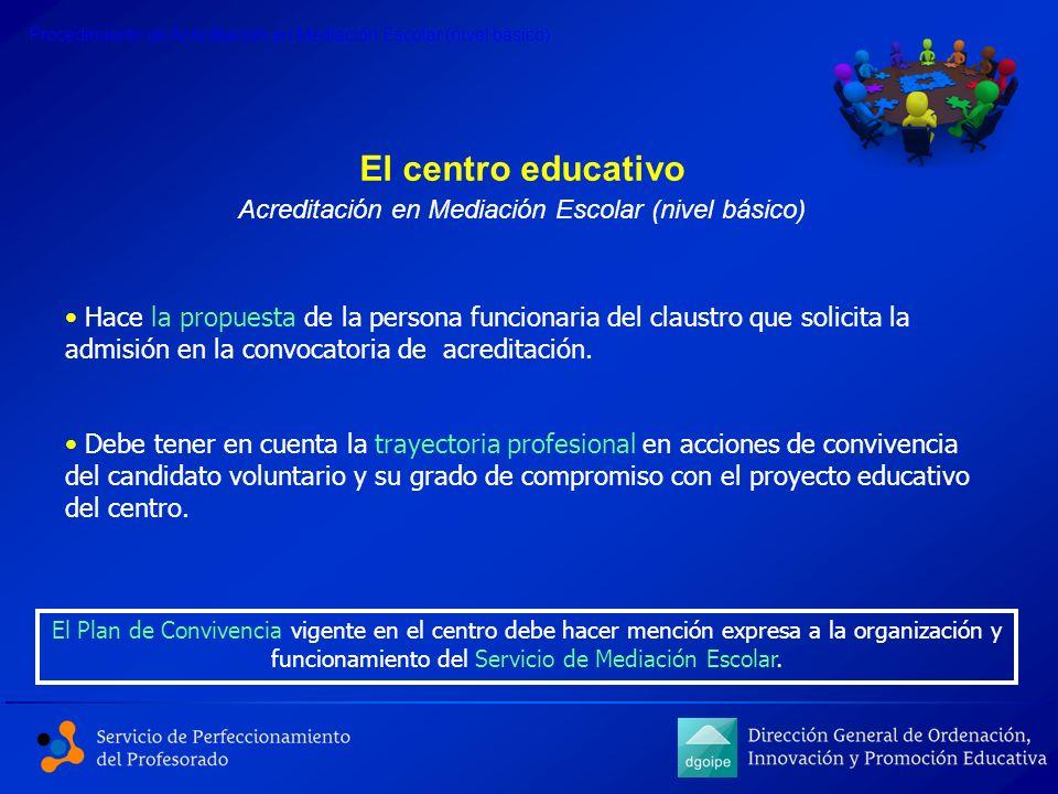 Acreditación en Mediación Escolar (nivel básico)