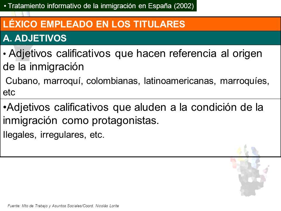 Tratamiento informativo de la inmigración en España (2002)