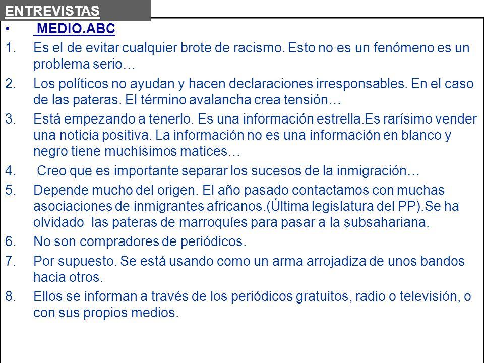 Creo que es importante separar los sucesos de la inmigración…