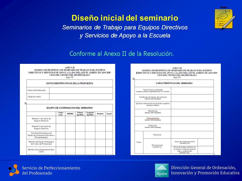 Diseño inicial del seminario