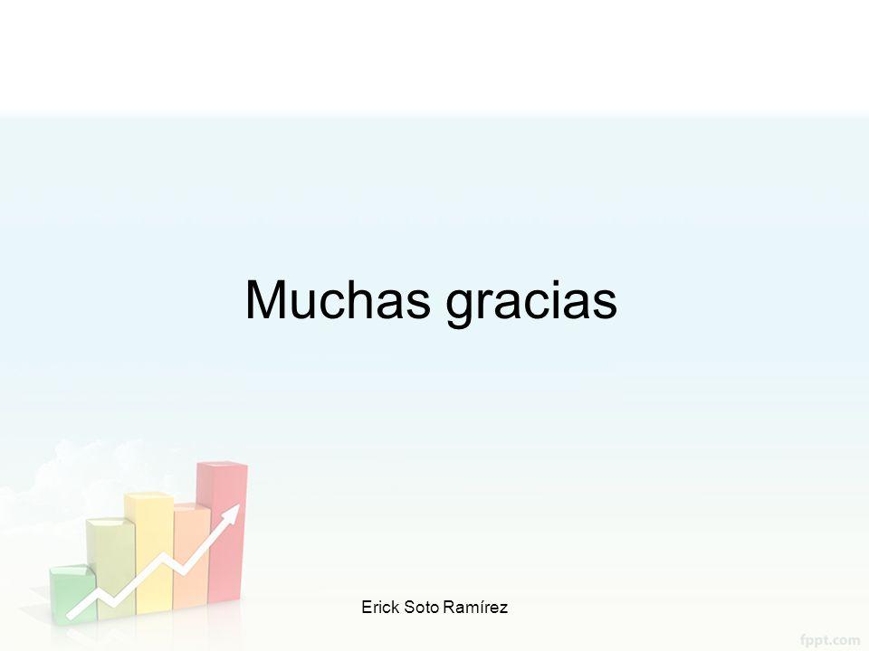 Muchas gracias Erick Soto Ramírez Profr. Erick Soto Ramírez