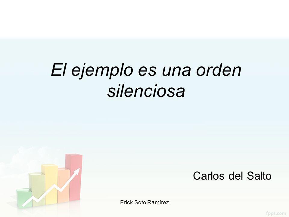 El ejemplo es una orden silenciosa