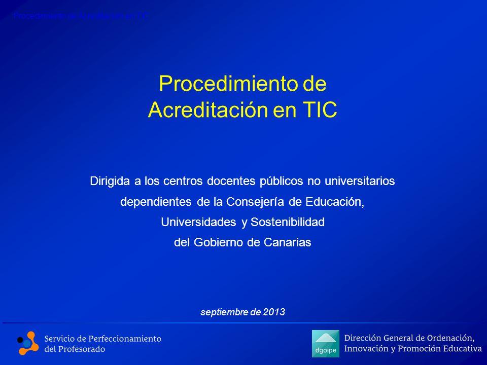 Procedimiento de Acreditación en TIC
