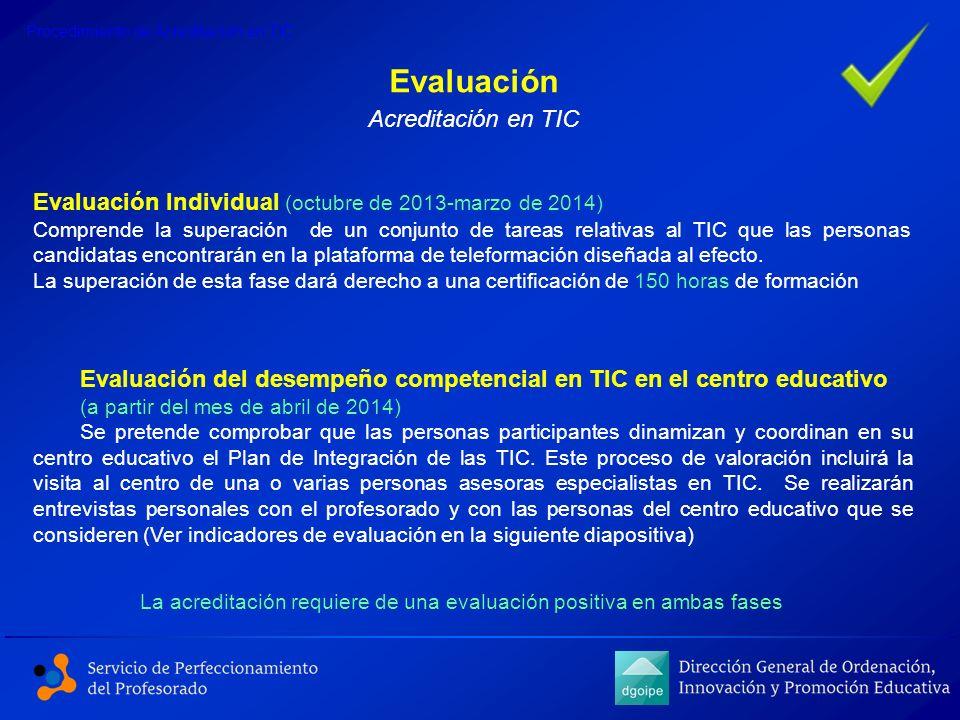 Evaluación Acreditación en TIC