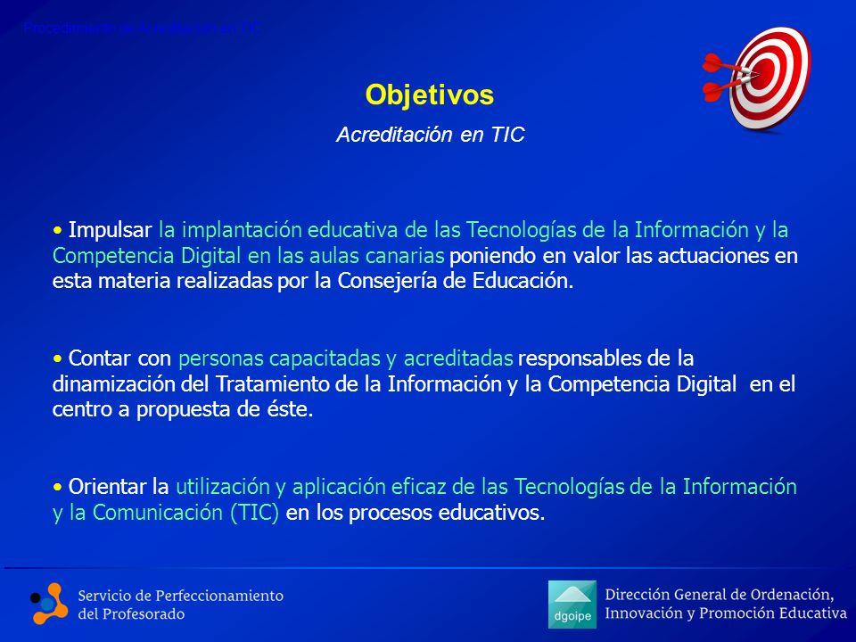 Objetivos Acreditación en TIC