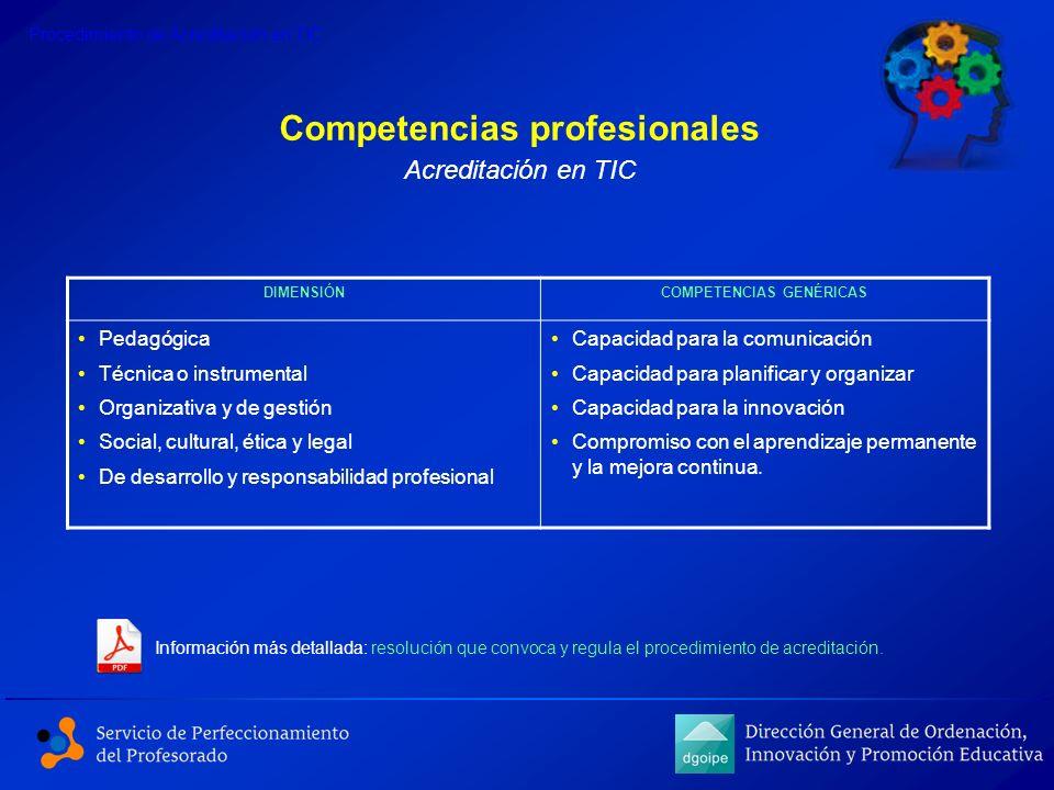 Competencias profesionales COMPETENCIAS GENÉRICAS