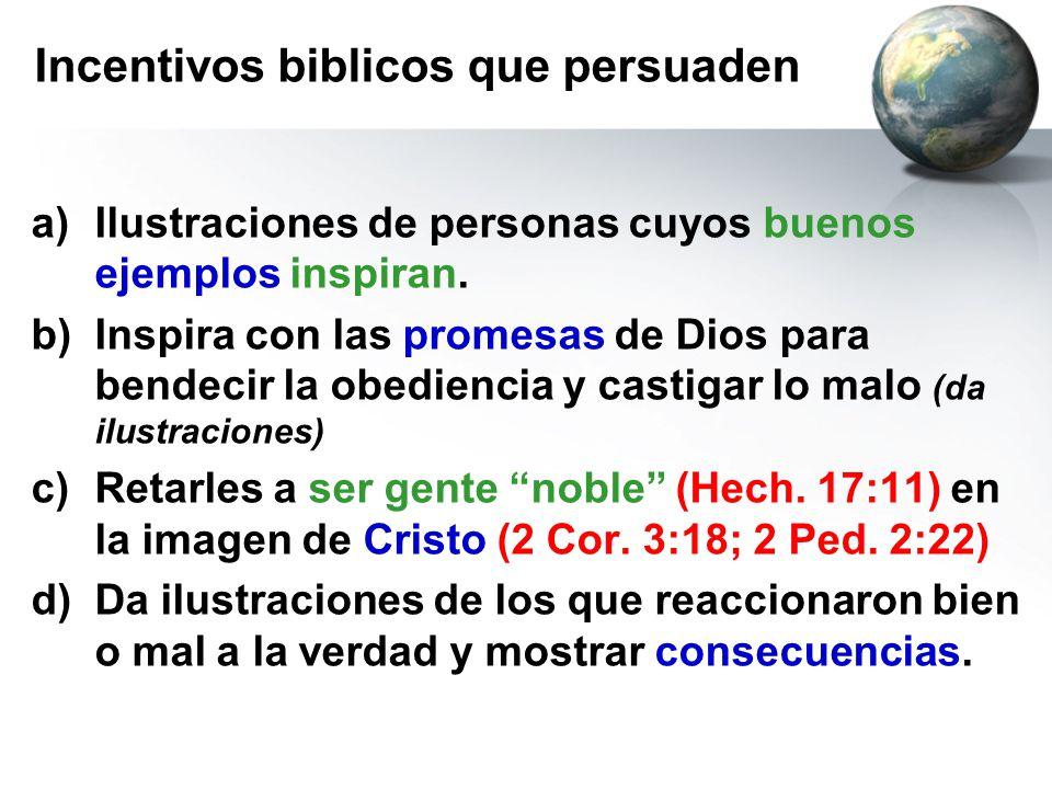Incentivos biblicos que persuaden