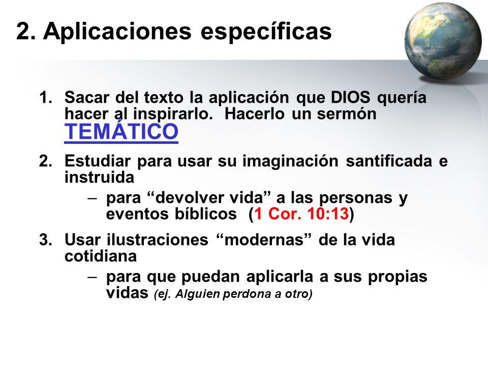 2. Aplicaciones específicas