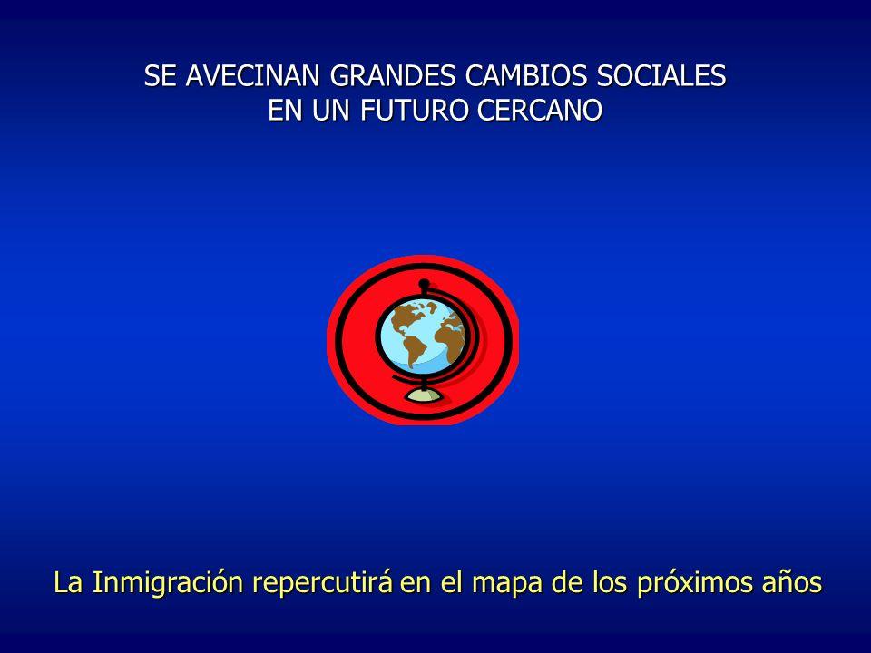 SE AVECINAN GRANDES CAMBIOS SOCIALES EN UN FUTURO CERCANO