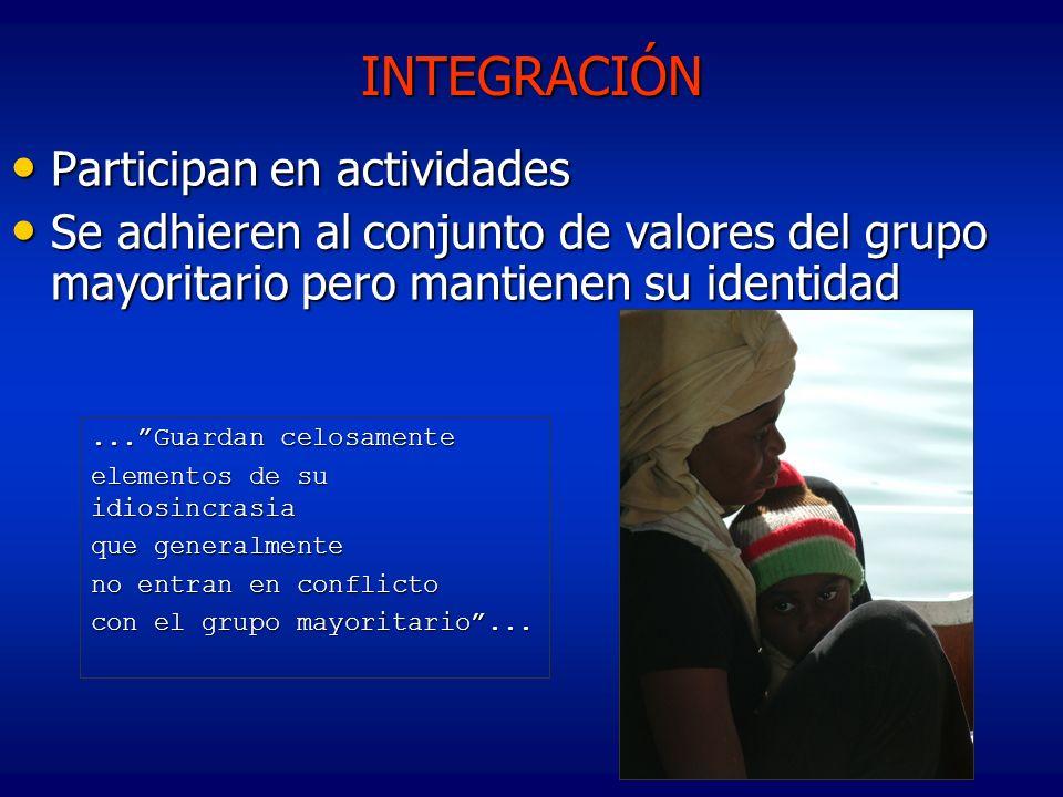 INTEGRACIÓN Participan en actividades