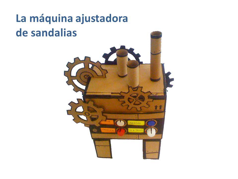 La máquina ajustadora de sandalias
