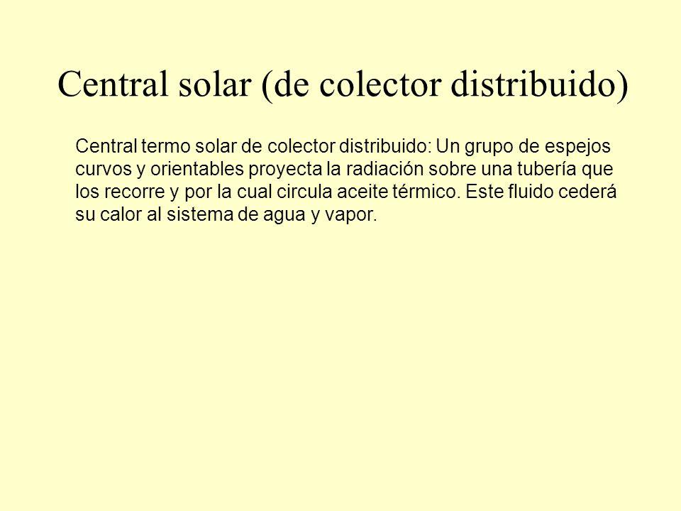 Central solar (de colector distribuido)
