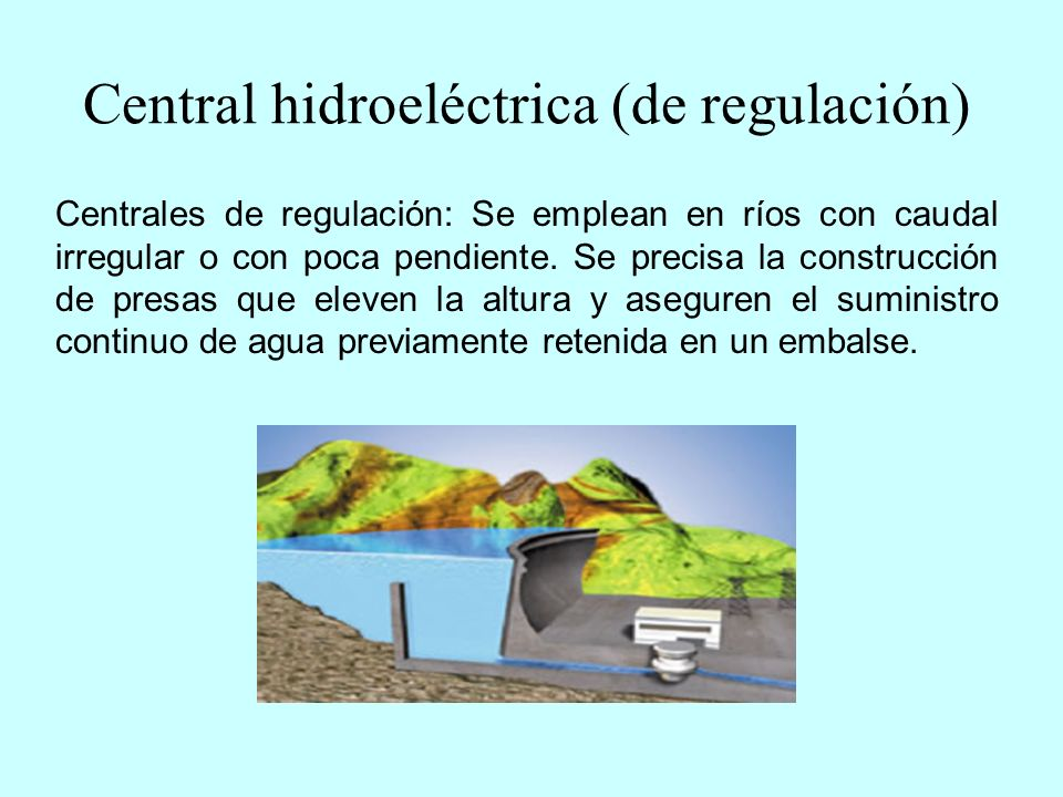 Central hidroeléctrica (de regulación)