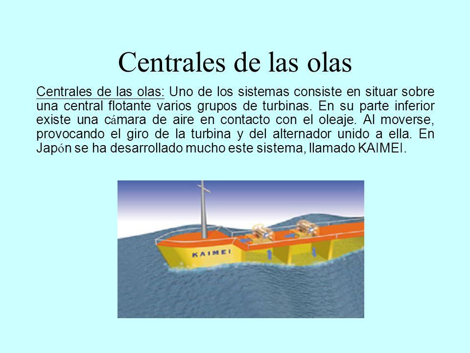 Centrales de las olas