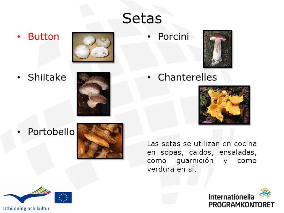 Setas Button Shiitake Portobello Porcini Chanterelles