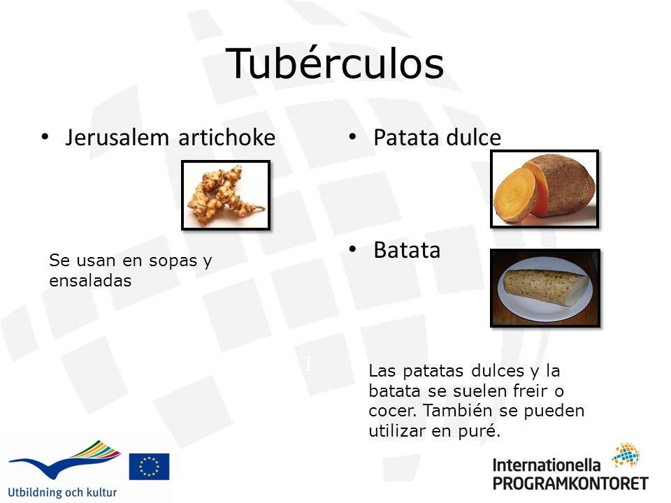 Tubérculos Jerusalem artichoke Patata dulce Batata 1